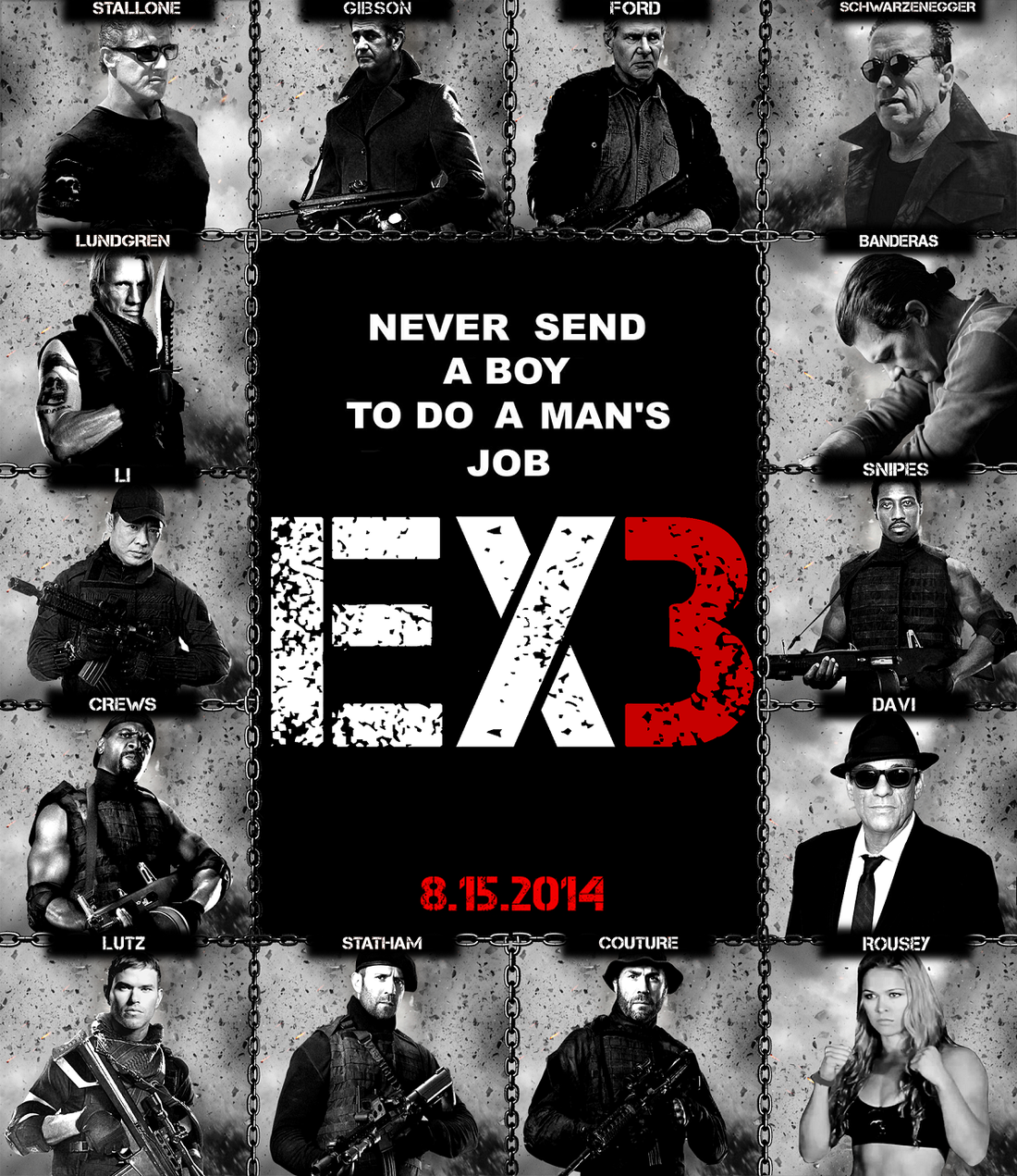 Expendables 3 Cast Poster